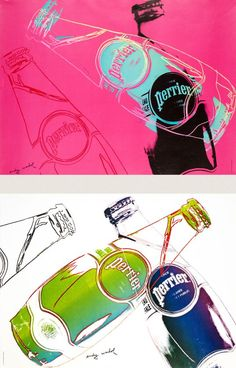 By Andy  Warhol, 1 9 8 1, Perrier Dyptic.