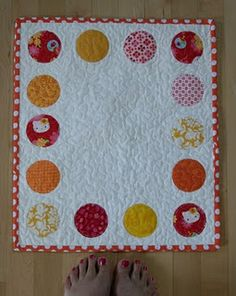 cute idea for baby quilt or wall hanging?