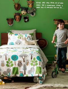 the boo and the boy: Boys rooms with colour