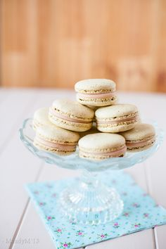Pistachio Strawberry Macarons