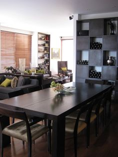 Impressive Dining Room Decoration Will Tempts You to Enjoy Foods: Fabulous Open Floor Dining Room Ideas Use Wooden Floor