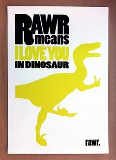 Rawr....poster dinosaur