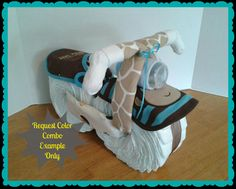 Diaper Cake - Diaper Motorcycle - Baby Shower Gift - Boy - Baby Shower Centerpiece. $50.00, via Etsy.