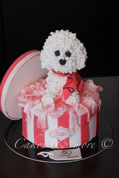 Poodle cake #poodle #poodlecake