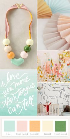 Nursery idea: modern pastels