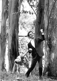 Howard Swain as Puck and Dan Hiatt as Bottom in A MIDSUMMER NIGHT'S DREAM, the first production at the Bruns, 1991; photo by David Allen.