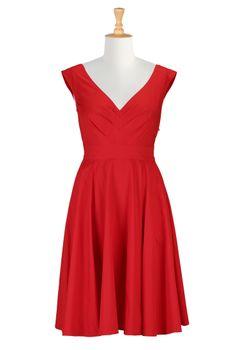 Red Vintage Dresses, Retro Summer Dress Shop women's designer clothing: Dresses, Blouses, Shirts and Skirts -   eShakti.com