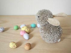 pom poms, easter crafts, the craft, pompom bunni, bunny crafts, blog, easter bunny, kid crafts, blues