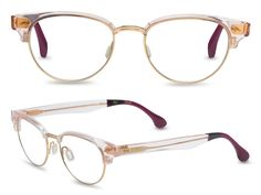 These TOMS Audra glasses have a retro look but with a contemporary feel -- the clear violet frames are a cool feature.