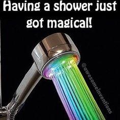 Rainbow shower lights