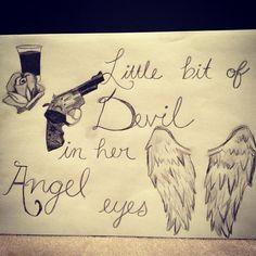 "Awesome. ""Angel Eyes"" lyric sketch instagram.com/jenessadanielle"