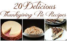 20 Delicious Thanksgiving Pie Recipes #pies #recipes #thanksgiving #holidayrecipes