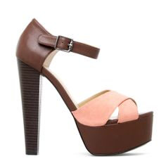 Coral & Brown Heel