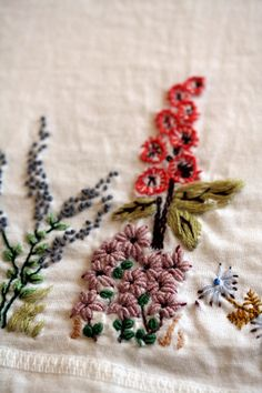 sweet embroidered flowers