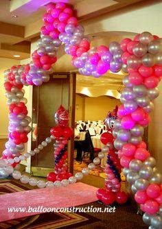 Sweet 16 entrance decor! A walk on the pink carpet!