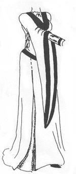 10th-14th Century Bliaut, Style A Pattern