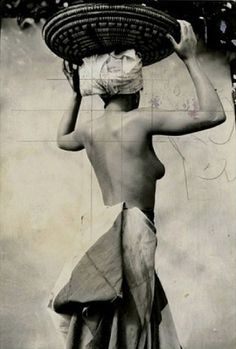 frank brangwyn -  photograph study for 'the british empire panels', 1925, with ink grid.