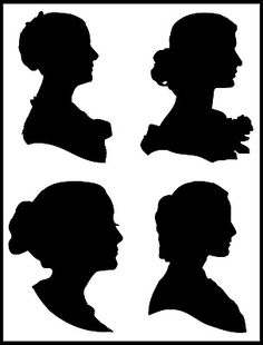 free silhouettes from Art by Julie H #free #printable #silhouette #download