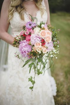 The colors are gorgeous in this bouquet!