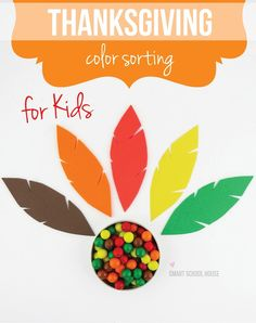 Thanksgiving Color Sorting Activity
