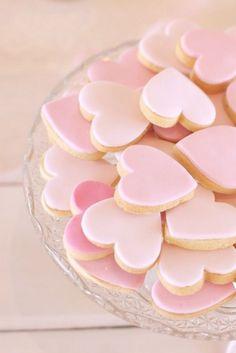 heart cookies, dessert