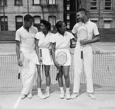 Four Black Tennis stars at the New York State Negro tennis championships, August 15, 1940.