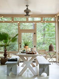 Sigh -- wishing we were sitting on this screened-in porch right now!