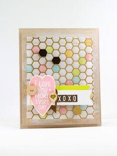 handmade love note. love the hexi's
