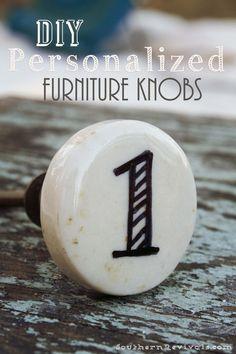 DIY Custom Knobs Tutorial on { lilluna.com }