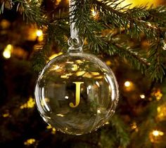 diy christmas ornament...fill with a few pinches of glitter!