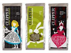 Clipper teas Alice in Wonderland packaging