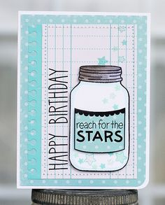Lawn Fawn - Lucky Stars, Summertime Charm, So Much to Say _ fun mix of stamp sets on this Reach for the Stars! birthday card by Laura via Flickr - Photo Sharing! {pin of the day}