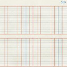 blue & red notebook ledger paper {free download}