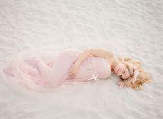 pink beach maternity
