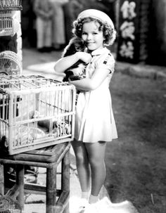 Shirley Temple on the set of Stowaway, 1936.