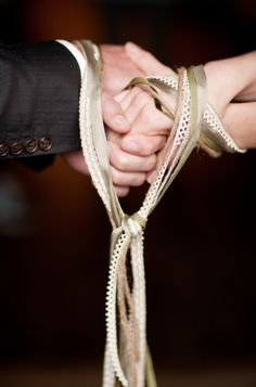 Handfasting Ceremony ~ a lovely addition to any marriage ceremony ~ of any faith.   Photo by larissacleveland.com