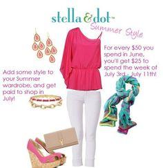 It pays to Shop in June!  Shop http://www.stelladot.com/randimanning