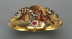 ANTIQUE CHIMERA BRACELET Gold, Enamel and Gems, circa 1838