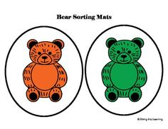 Freebie! Counting Bears- Sorting Mats classroom, math centers, sort mat, mats, freebi, diving, teach, preschool, count bear