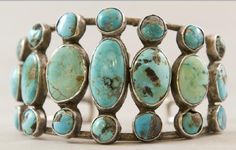 Old style turquoise bracelet circa 1940s