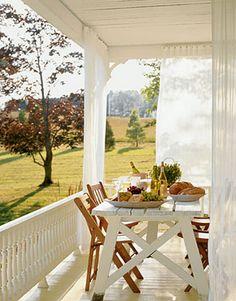White porch w/ view