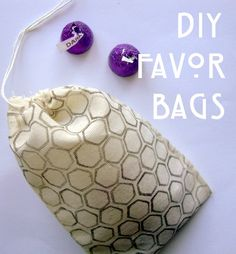 favor bags, sew, favors, towers, diy stamp, stamps, printed stamp bag, stamp favor