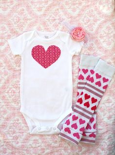 Baby Girl Valentine's Day Heart Onesie.! CUTE..  For Sweet McKinley bc she will know I am ALL about hearts <#  @Danielle Lampert Lampert Taylor