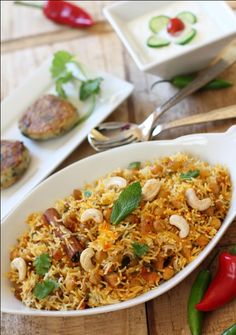 Chickpea Biryani with Cumin & Coriander Potato Patties by onetribegourmet #Biryani #Chickpeas #Potatoes #onetribegouromet