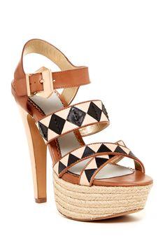 print strappi, geometric prints, strappi heel, platform sandal, wedg, geometr print, platform heel