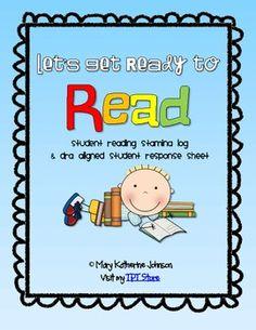 Reading Stamina Log & DRA Aligned Response Sheets
