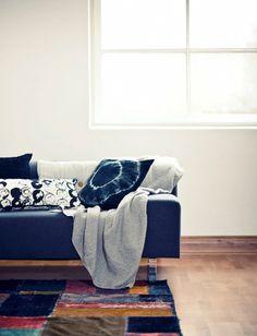 Denim and tiedie cushions
