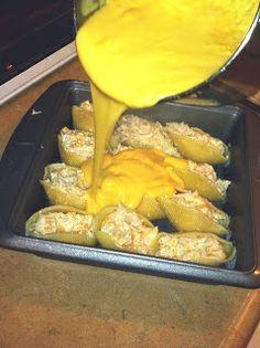mac n' cheese chicken stuffed shells OMG!