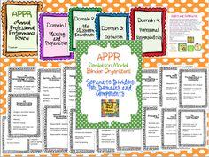 Fourth Grade Flipper: APPR binder organizers for Danielson model