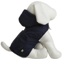 Fab Dog Pocket Travel Raincoat - Navy Argyle - Medium